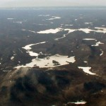 Aerial view of Blue Mountain, Blue Mountain Lake and Raquette Lake