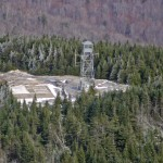 Aerial view of Blue Mountain fire tower
