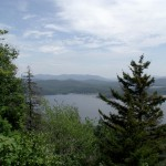 Aerial view of Piseco Lake from Echo Cliff