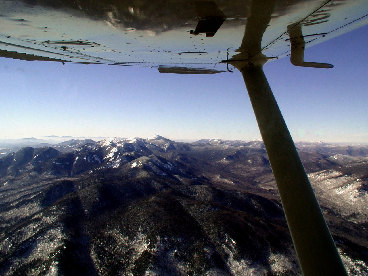 Mount Marcy and the other High Peaks looking west from 6,000'