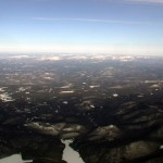 View of most of the Adirondack Park from the south at about 13,000'