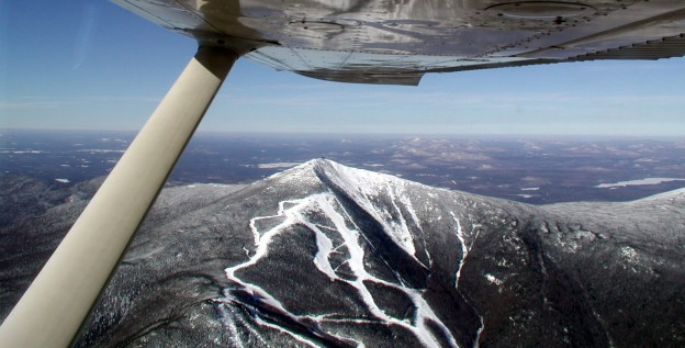 Whiteface mountain and ski trails from Cessna 175 at about 6,500'